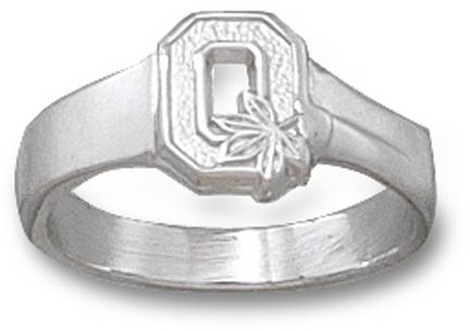 "Ohio State Buckeyes Block ""O"" Ladies' Ring Size 6 1/2 - Sterling Silver Jewelry"