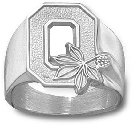 "Ohio State Buckeyes ""O"" Men's Ring Size 10 3/4 - Sterling Silver Jewelry"