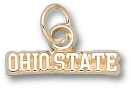 "Ohio State Buckeyes ""Ohio State"" Charm - 14KT Gold Jewelry"