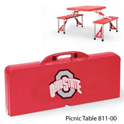 Ohio State Buckeyes Portable Folding Table and Seats