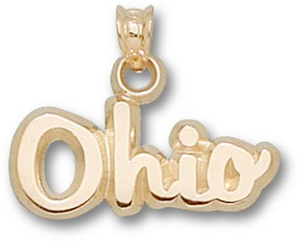 "Ohio State Buckeyes Script ""Ohio"" Pendant - 10KT Gold Jewelry"