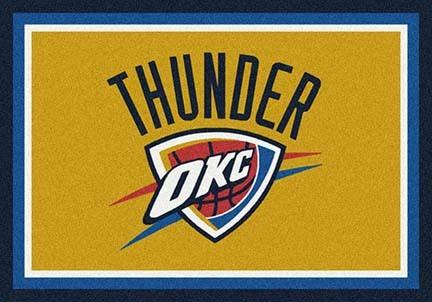 """Oklahoma City Thunder 3' 10"""" x 5' 4"""" Team Spirit Area Rug"""