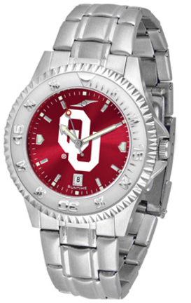 Oklahoma Sooners Competitor AnoChrome Men's Watch with Steel Band