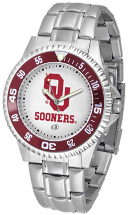Oklahoma Sooners Competitor Watch with a Metal Band