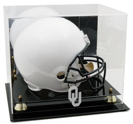Oklahoma Sooners Logo Golden Classic Full Size Helmet Display Case