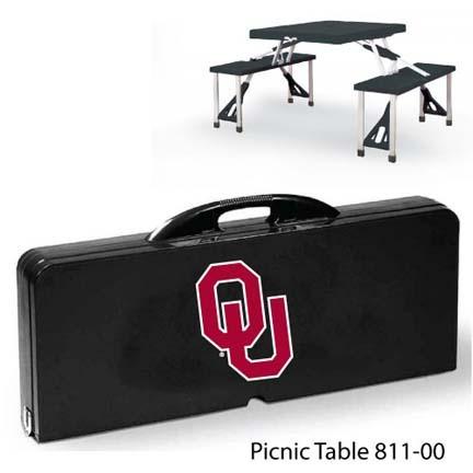 Oklahoma Sooners Portable Folding Table and Seats