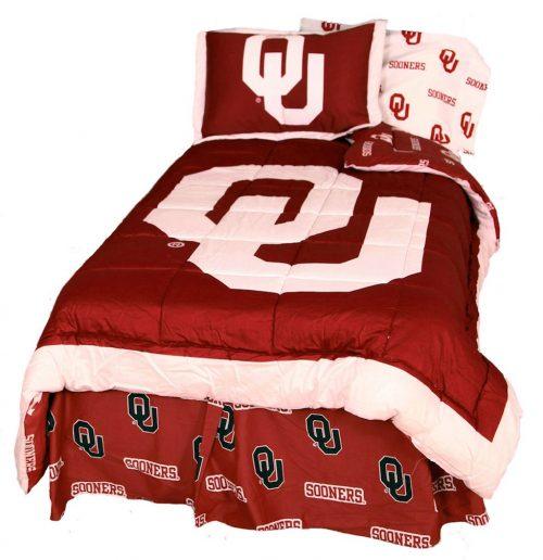 Oklahoma Sooners Reversible Comforter Set (Queen)