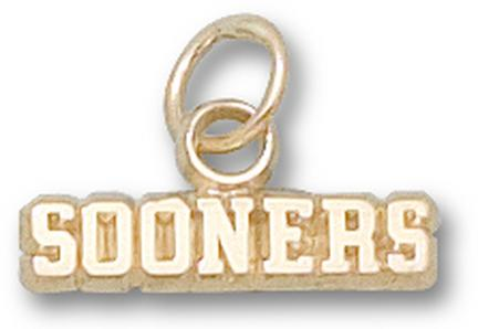 "Oklahoma Sooners ""Sooners"" Charms - 14KT Gold Jewelry"