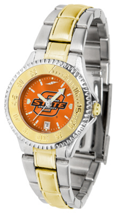 Oklahoma State Cowboys Competitor AnoChrome Ladies Watch with Two-Tone Band