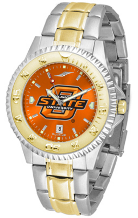 Oklahoma State Cowboys Competitor AnoChrome Two Tone Watch