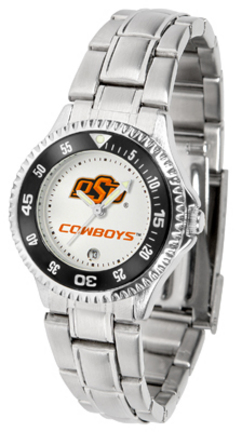 Oklahoma State Cowboys Competitor Ladies Watch with Steel Band