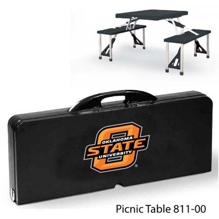 Oklahoma State Cowboys Portable Folding Table and Seats
