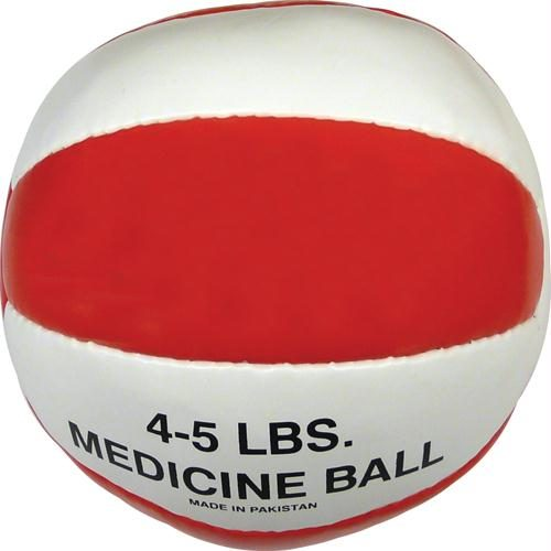 Olympia Sports BA043P Syn. Leather Medicine Ball - 4-5 lbs. - red
