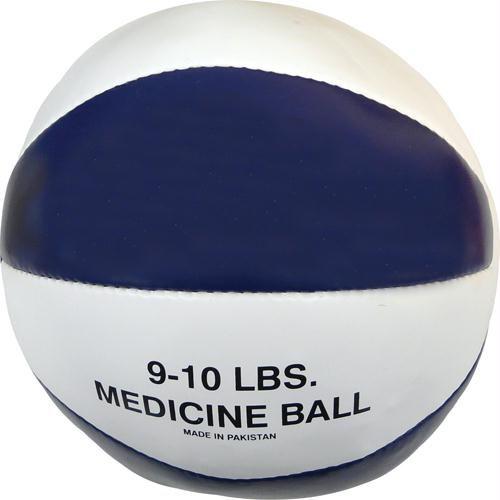 Olympia Sports BA045P Syn. Leather Medicine Ball - 9-10 lbs. - blue