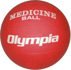 Olympia Sports BA800P Rubber Medicine Ball - 2K - 4-5 lbs. - red
