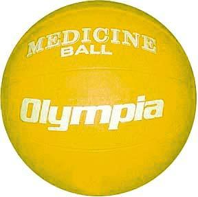 Olympia Sports BA801P Rubber Medicine Ball - 3K - 6-7 lbs. - yellow