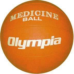 Olympia Sports BA803P Rubber Medicine Ball - 5K - 11-12 lbs. - orange