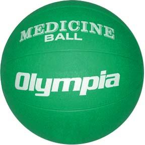 Olympia Sports BA805P Rubber Medicine Ball - 7K - 14-15 lbs. - green
