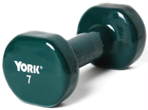 Olympia Sports BE287P Pair of Vinyl-Coated Dumbbells - 7 lbs