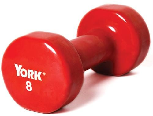Olympia Sports BE288P Pair of Vinyl-Coated Dumbbells - 8 lbs