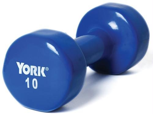 Olympia Sports BE290P Pair of Vinyl-Coated Dumbbells - 10 lbs