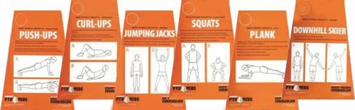 Olympia Sports CO139P Circuit Training Cards - Basic Fitness No. 1
