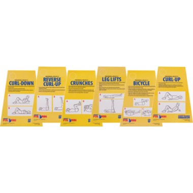 Olympia Sports CO148P Circuit Training Cards - Abdominal No.1 Set of 6
