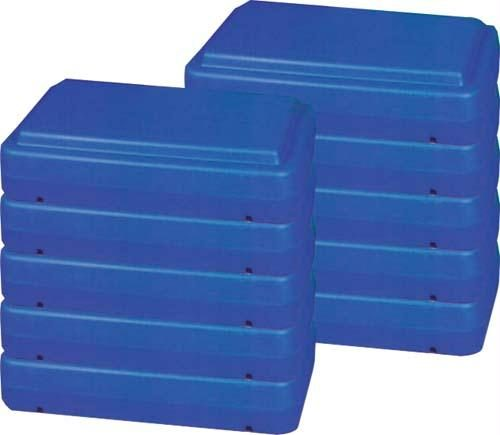 Olympia Sports GA476P 6 in. Fitness Steps - Pack of 5
