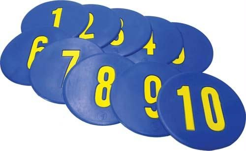 Olympia Sports GE490P Numbered Poly Spots No. 1-10