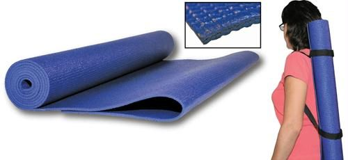 Olympia Sports PS673P 68 L x 24 W Yoga Mat with Convenient Travel Shoulder Strap