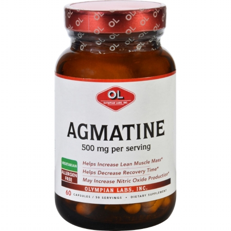 Olympian Labs 1626514 500 mg Agmatine 60 Capsules