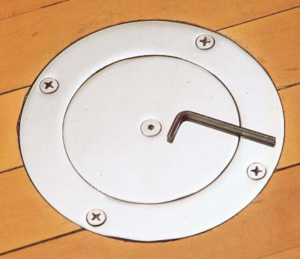 One Locking Floor Plate and Ground Sleeve from Spalding