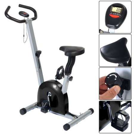 Online Gym Shop CB16913 Stationary Fitness Cardio Exercise Bike Workout