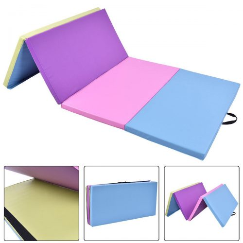 Online Gym Shop CB17011 Gymnastics Mat Thick Folding Panel Fitness Exercise Multi Color - 4 x 8 ft. x 2 in.