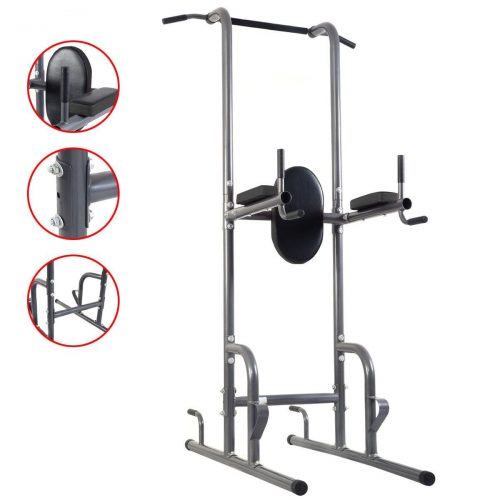 Online Gym Shop CB17058 Tower Rack Dip Station Chin Up Pull Up Weight Stand Bar Raise Workout Home Gym
