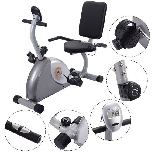 Online Gym Shop CB17065 Cardio Stationary Bicycle Recumbent Fitness Exercise Bike Workout Home Gym