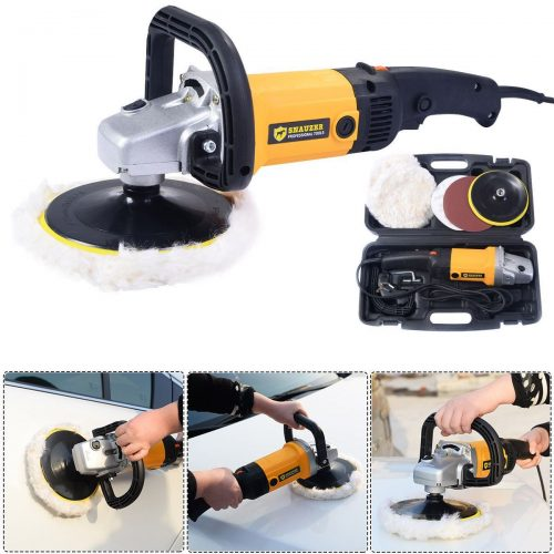 Online Gym Shop CB17190 7 in. Electric 6 Variable Speed Car Polisher Buffer Waxer Sander Detail Boat