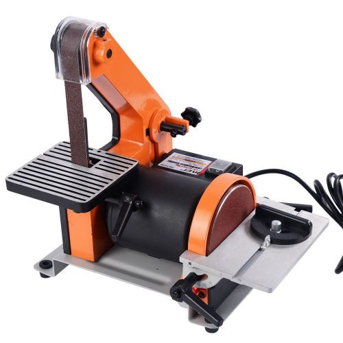 Online Gym Shop CB17194 1 x 30 in. Belt 5 in. Disc Sander 0.33 HP Polish Grinder Sanding Machine