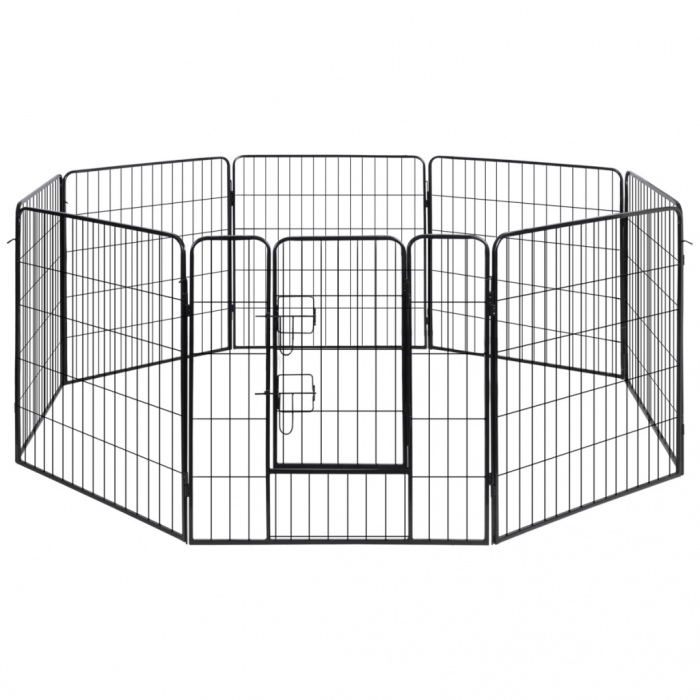 Online Gym Shop CB17586 Dog Playpen Crate Fence Puppy & Pet Exercise Cage Kennel 8 Panel