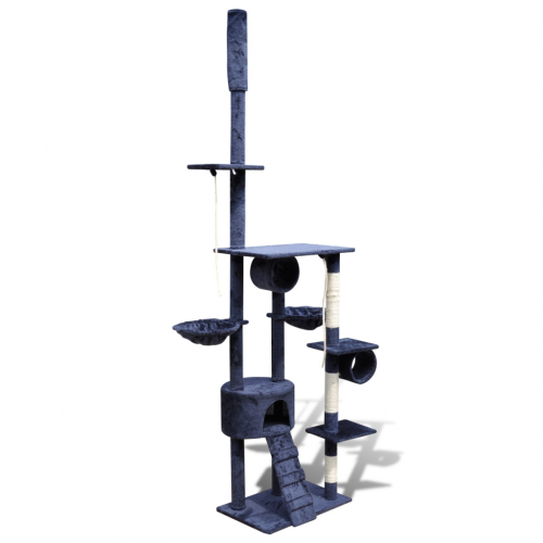 Online Gym Shop CB17664 Cat Tree Scratching Post 1 Condo Dark Blue - 87 - 94 in.