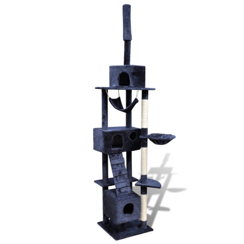 Online Gym Shop CB17669 Cat Tree Scratching Post 3 Condos Dark Blue - 87 - 94 in.