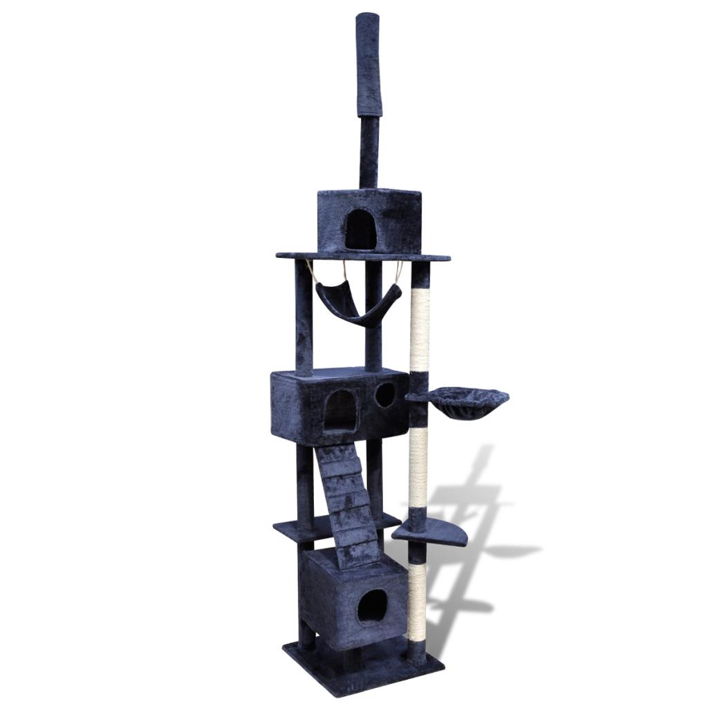 Online Gym Shop CB17669 Cat Tree Scratching Post 3 Condos Dark Blue - 87 - 94 in.