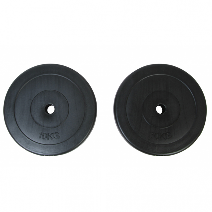 Online Gym Shop CB18996 22 lbs Weight Plates - 2 Piece