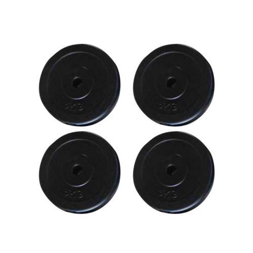 Online Gym Shop CB19000 Workout Fitness 11 lbs Weight Plates - 4 Piece