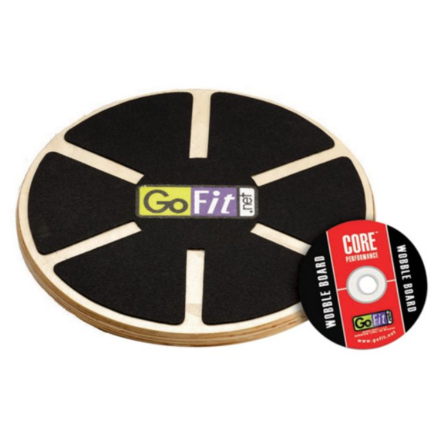Online Gym Shops CB1559 GoFit Ultimate 15 Inch Adjustable Round Wood Balance Board