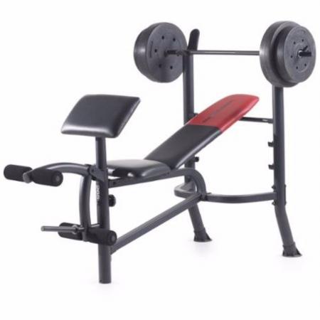 OnlineGymShop CB16830 Standard Bench Set Workout Lifting Press