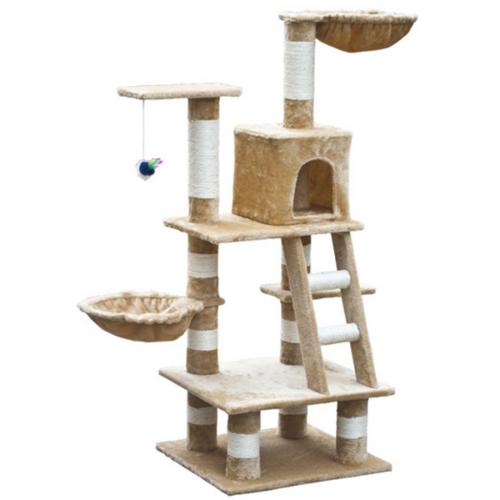 OnlineGymShop CB17647 48 in. Cat Tree - Beige Plush