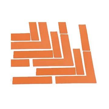 Orange Vinyl Gym Boundary Markers - Set of 24