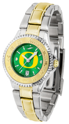 Oregon Ducks Competitor AnoChrome Ladies Watch with Two-Tone Band
