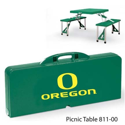 Oregon Ducks Portable Folding Table and Seats